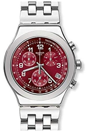 Swatch Mens Chronograph Quartz Watch with Stainless Steel Strap YVS456G