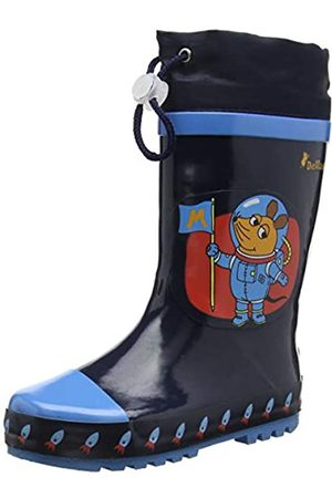 Playshoes Unisex Kid's Wellies Rain Boot Die Maus Astronaut Wellington Rubber, (Marine 11)