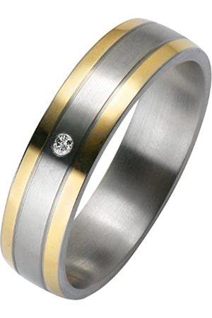 Trauringe Liebe hoch zwei Liebe² 0506001120S052 Ladies' Wedding Ring Stainless Steel 1 Diamond 0.01 ct Size 52 / M 1/2