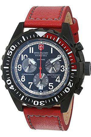 Swiss Military Hanowa Mens Analogue Quartz Watch with Leather Strap 06-4304.13.007