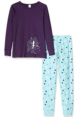 Schiesser Girls' Ponyhof Md Anzug Lang Pyjama Sets