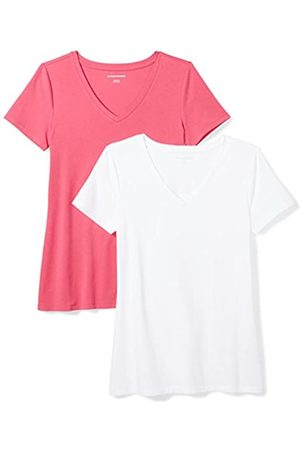 Amazon Essentials 2-pack Short-sleeve V-neck T-shirt Bright /
