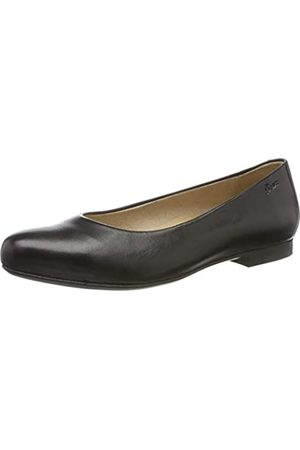 Sioux Women's Hermina Closed Toe Ballet Flats, (Schwarz 62130)