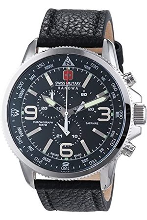 Swiss Military Men's Quartz Watch with Dial Chronograph Display and Leather Strap 6-4224.04.007