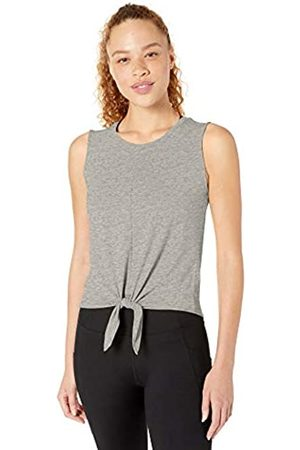 Core 10 Soft Pima Cotton Stretch Yoga Front-tie Sleeveless Tank Shirt