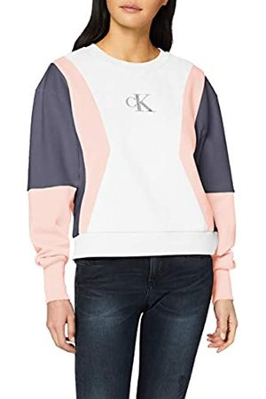 Calvin Klein Jeans Women's Color Block Crew Neck Sweatshirt