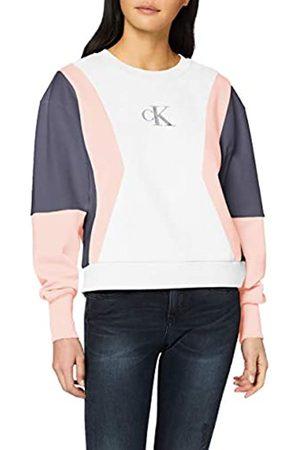 Calvin Klein Jeans Women's Color Block Crew Neck Sweatshirt