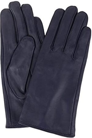"SNUGRUGS Womens Butter Soft Premium Leather Glove with Warm Fleece Lining - Navy - Large (7.5"")"