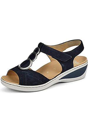 ARA Women's Colmar T-Bar Sandals, (Blau 14)