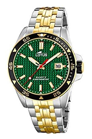Lotus Mens Analogue Quartz Watch with Stainless Steel Strap 18652/2