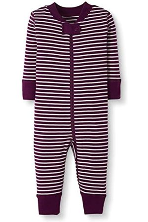 Moon and Back by Hanna Andersson Moon and Back One Piece Footless Pajamas Sleepers, Berry