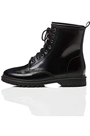FIND Lace Up Leather Biker Boots, )