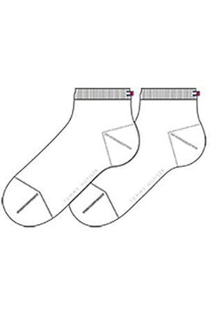 Tommy Hilfiger Women's TH Casual Short Sock 2P