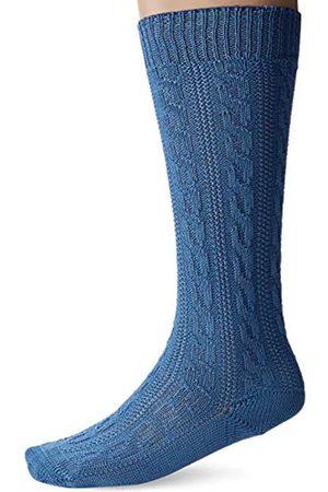Lusana Men's Trachtenkniestrumpf Mammendorf Traditional Costume Tights, -Blau (trachtenblau 31)