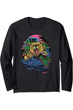 Neff Psychedelic Neon Grizzly Bear Long Sleeve T-Shirt
