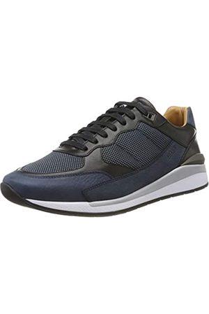 HUGO BOSS Men's Element_Runn_numx Low-Top Sneakers, (Navy 401)