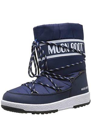 Moon-boot Unisex Kids Jr Boy Sport Wp Snow Boots, (Blu Navy/Bianco)