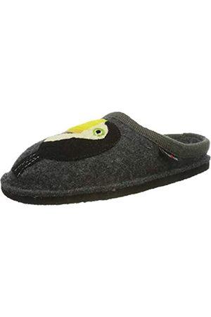 Haflinger Unisex Adults' Flair Tucan Open Back Slippers, (Anthrazit 4)