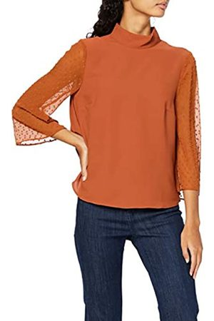 find. Women's Blouse with Dobby Sleeve and Standing Collar