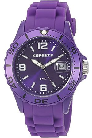CEPHEUS Men's Quartz Watch with Dial Analogue Display and Silicone Strap CP603-090A-1