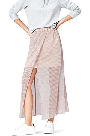 FIND Women's Skirt with Metallic Sheer Overlay Pleated and Hippie Style