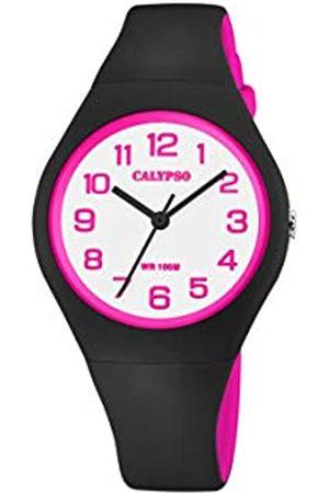 Calypso Womens Analogue Quartz Watch with Silicone Strap K5777/8