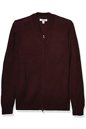 Goodthreads Merino Wool Bomber Sweater Burgundy