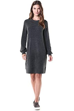 Daily Ritual Mid-gauge Stretch Crewneck Sweater Dress Charcoal Heather