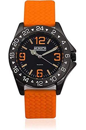 Munich Unisex Adult Analogue Quartz Watch with Rubber Strap MU+120.3A