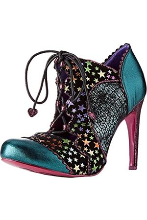 Irregular Choice Women's Halston Closed Toe Heels, (Teal Atomic)