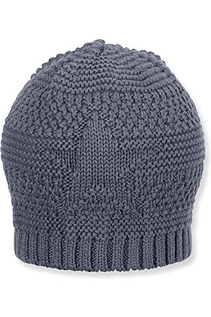 Sterntaler Knitted Cap with Star Motif, Size: 49 cm, Blue