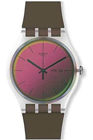 Swatch Unisex Adult Analogue Watch with Silicone Strap SUOK714