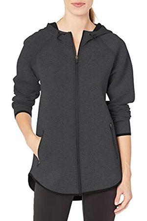 Amazon Essentials Longer Length Bonded Tech Fleece Full-zip Hooded Jacket Charcoal Heather
