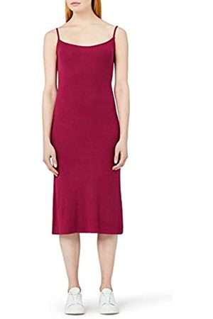 MERAKI Women's Slim Fit Rib Summer Midi Dress