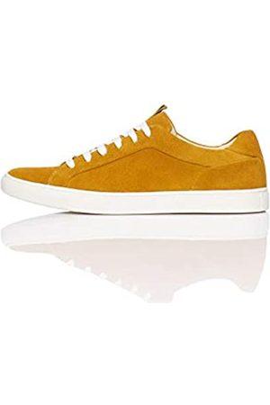FIND Suede Low-Top Sneakers, Ochre/ )