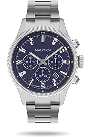 Nautica Mens Chronograph Quartz Watch with Stainless Steel Strap NAPSTB009