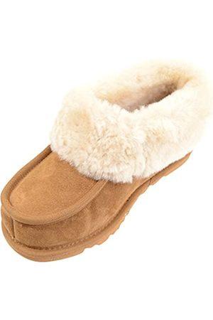 Snugrugs Women's SR949 Hi-Top Slippers, (Chestnut)