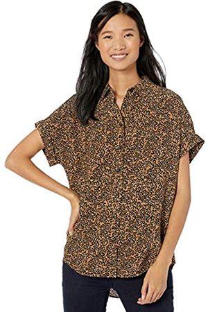 Goodthreads Viscose Short-sleeve Shirt Camel Graphic Leopard