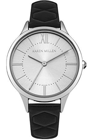 KAREN MILLEN Womens Analogue Classic Quartz Watch with Leather Strap KM170B