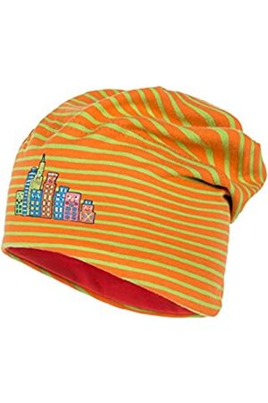 maximo Girl's Kids-Beanie Short, Ringeljersey Hat, Multicoloured-Mehrfarbig ( /frisches grün 47)