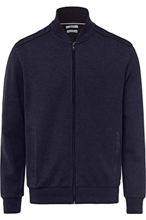 Brax Men's Serge College Rib, Brushed Stehkragen Cardigan