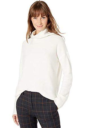 Lark & Ro Boucle Exaggerated Neck Sweater Ivory