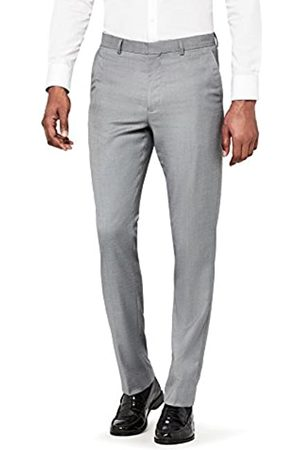 FIND Amazon Brand - Men's Regular Fit Textured Formal Trousers