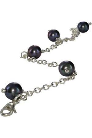 Jane Davis SATC CH030 Charm style Bracelet withPeacock freshwater pearls on an Sterling chain 20cm