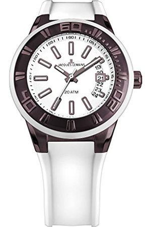 Jacques Lemans Men's Analogue Quartz Watch with Silicone Strap 1-1784Q