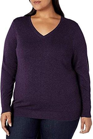 Amazon Essentials Plus Size Lightweight V-neck Sweater Heather
