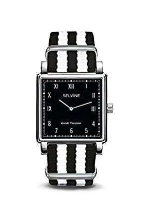 Selvine Unisex-Adult Analogue Classic Quartz Watch with Nylon Strap SPRE2
