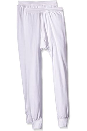 Trigema Men's Herren Lange Unterhose Doppelpack Thermal Bottoms, -Weiß (Weiss 001)