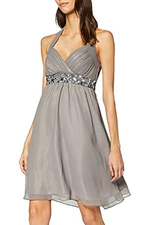 My Evening Dress Women's Emily Knee-Length Plain Halterneck Dress