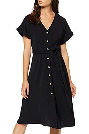 New Look Petite Women's P HBONE BTN Thru MIDI Dress